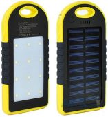 Внешний аккумулятор power bank MANGO Solar + LED 2USB 6000mAh Black/Yellow