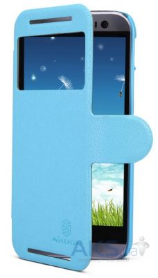 Чехол Nillkin Fresh Leather Series HTC One M8 Blue