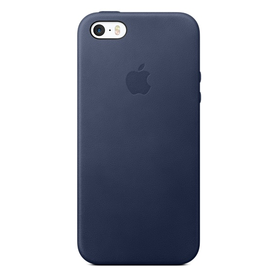 Чехол Apple Leather Case iPhone SE, iPhone 5S, iPhone 5 Midnight Blue (MMHG2_HC)
