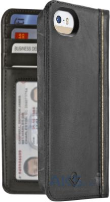 Чехол Twelvesouth Leather Case BookBook Classic Apple iPhone 5, iPhone 5S, iPhone SE Black (TWS-12-1233)