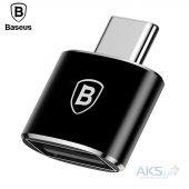OTG-перехідник Baseus USB Female To Type-C Male Adapter Converter Black (CATOTG-01)