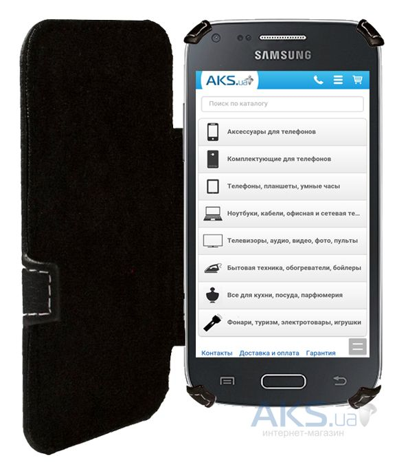 Чехол Status Book Series Samsung G350 Galaxy Star Advance Black Matte