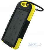 Внешний аккумулятор power bank MANGO Solar 2USB 6000mAh Black-yellow