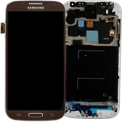 Дисплей (экран) для телефона Samsung Galaxy S3 I9300 + Touchscreen with frame Original Brown