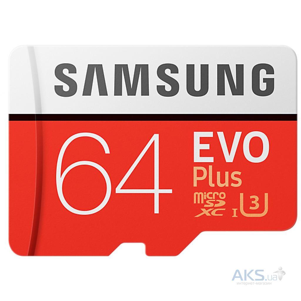 Карта памяти Samsung 64GB microSD class 10 UHS-I (MB-MC64GA/RU)