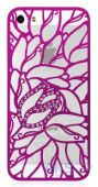 Чехол Alef Design Swarovski Elements Tulip Apple iPhone 5, iPhone 5S, iPhone SE Pink (AD8538)
