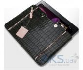 Вид 2 - Чехол для планшета Zenus The new iPad/iPad 2 Leather Case 'Prestige' Italian Hand Crafted Stitch Pouch Series - Khaki Grey