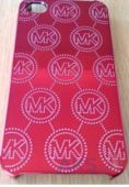 Чехол Michael Kors Embossed Metallic Case for iPhone 5/5S Red (MK-METL-REDD)