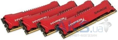 Оперативная память Kingston DDR3 32GB (4x8GB) 2400 MHz Savage Red (HX324C11SRK4/32)