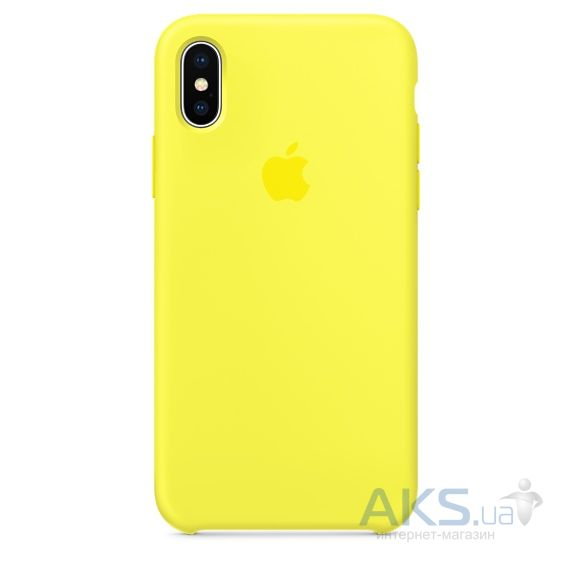 Чехол Apple Silicone Case iPhone X Yellow_HC
