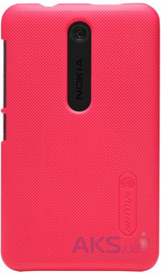 Чехол Nillkin Super Frosted Shield Nokia Asha 501 Red