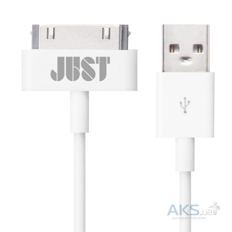 Кабель USB JUST Simple 30 pin USB Cable White (30P-SMP10-WHT)