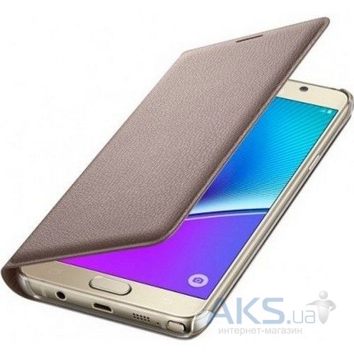 Чехол Samsung Filp Wallet Series N920 Galaxy Note 5 Gold (EF-WN920PFEGRU)
