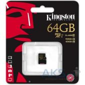 Вид 3 - Карта памяти Kingston microSDXC 64 Gb UHS-I no ad U1 (SDCA10/64GBSP)