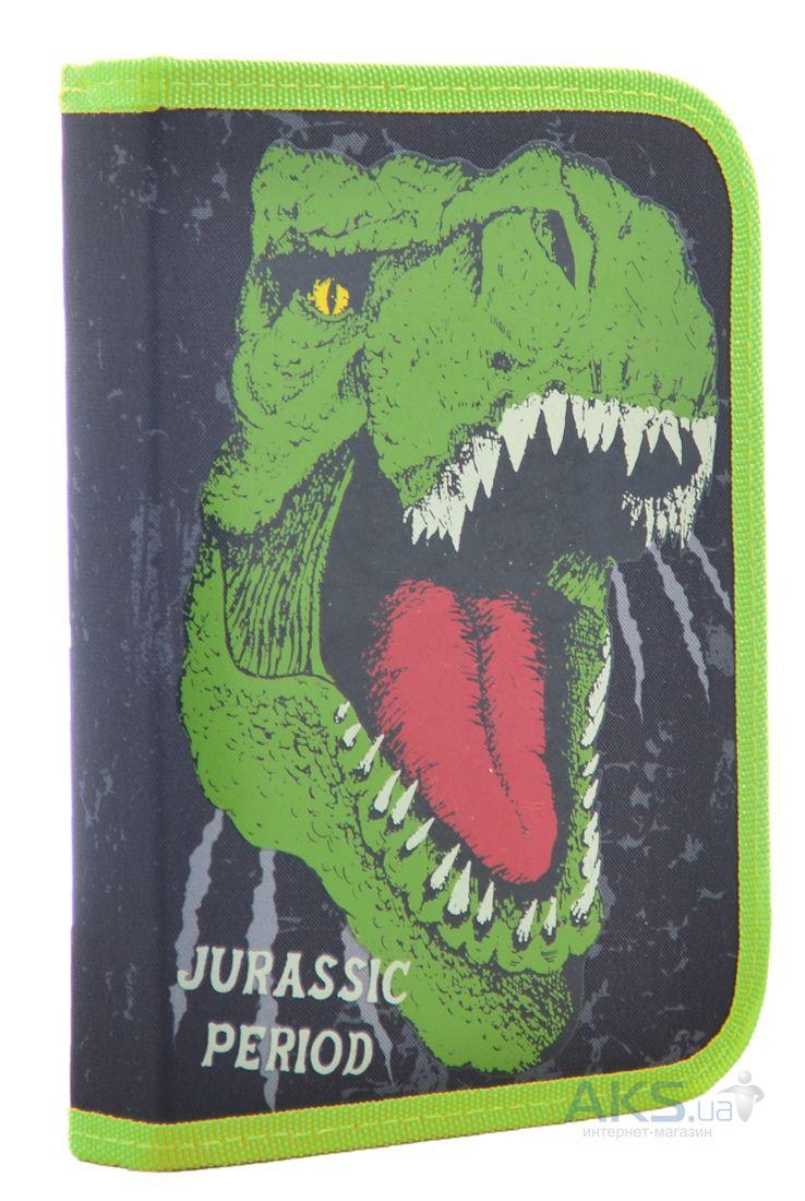 Пенал твердый одинарный с клапаном 1 Вересня Dinosaur (531870)