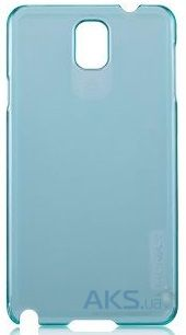 Чехол Momax Transparent Ultra Thin cover case for Samsung N9000 Galaxy Note 3 Blue (CUSANOTE3B2)