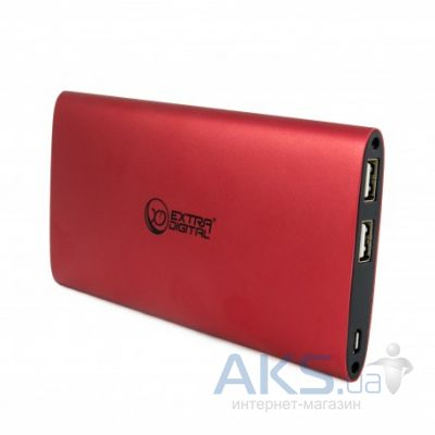 Повербанк power bank ExtraDigital YN-034L 10000mAh Red (PBU3418)