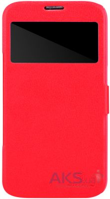 Чехол Nillkin Fresh Leather Series Samsung Galaxy Mega 6.3 i9200 i9205 Red