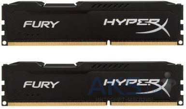 Оперативная память Kingston DDR3 8Gb (2x4GB) 1600 MHz HyperX Fury Black (HX316C10FBK2/8)