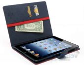 Вид 4 - Чехол для планшета Mercury Fancy Diary Series Apple iPad 2, iPad 3, iPad 4 Red - Blue