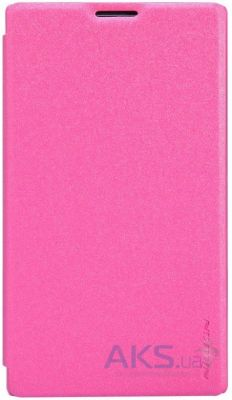 Чехол Nillkin Sparkle Leather Series Nokia XL Pink