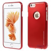 Чехол Mercury Jelly Metal Series Apple iPhone 6, iPhone 6S Red