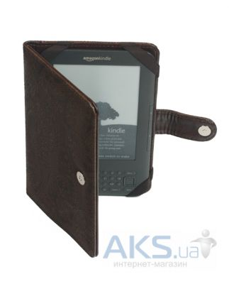 Обложка (чехол) Korka Antique Vintage dark (Ak3-Antique-pu-vntd) для Amazon Kindle 3 WiFi/3G
