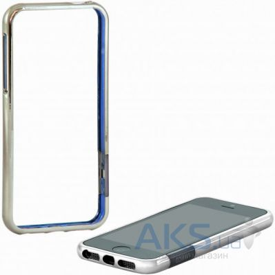 Чехол Uniico Chrome Bumper 2in1 Apple iPhone 5, iPhone 5S, iPhone SE Silver