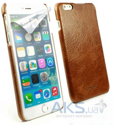 Чехол Alston Craig Vintage Leather Slim Shell Case for iPhone 6 Plus Brown (J1_24)