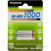 Акумулятор Panasonic AAA (R03) High Capacity Ni-Mh (1000mAh) 2шт (BK-4HGAE/2BE)