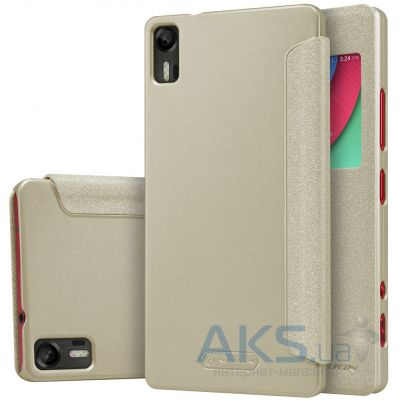 Чехол Nillkin Sparkle Leather Series Lenovo Vibe Shot Z90 Gold