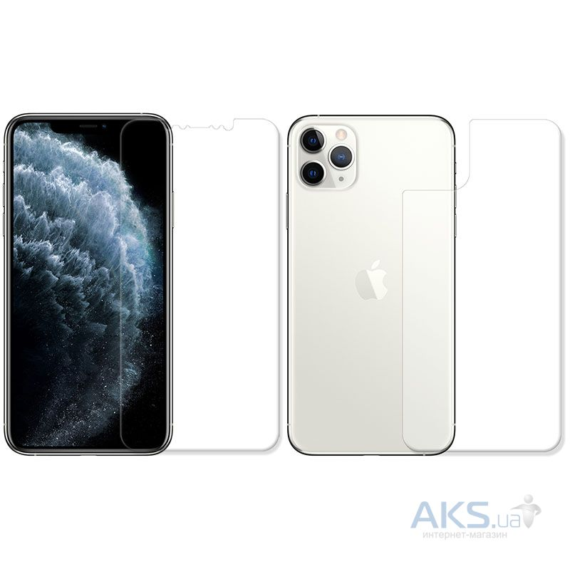 Защитная пленка BoxFace Polyurethane Apple iPhone 11 Pro Face and Back Clear