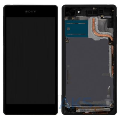 Дисплей (экран) для телефона Sony Xperia Z2 D6502, Xperia Z2 D6503 + Touchscreen with frame Original Black