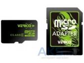 Карта памяти Verico MicroSDHC 8GB Class 4+SD adapter (VFE1-08G-V1E)