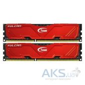 Оперативная память Team DDR3 16GB (2x8GB) 2133 MHz Vulcan Red (TLRED316G2133HC10QDC01)