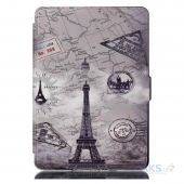 Обложка (чехол) Leather case for Amazon Kindle 6 2014 Paris