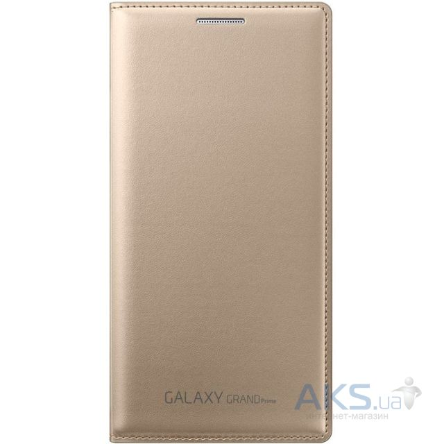 Чехол Samsung Flip Wallet Cover G530 Galaxy Grand Prime Gold (EF-WG530BFEGRU)