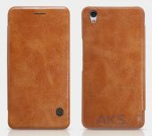 Вид 7 - Чехол Nillkin Qin Leather Series OnePlus X Brown