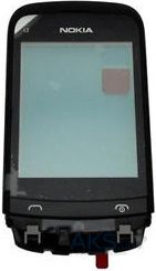 Сенсор (тачскрин) для Nokia C2-02, C2-03, C2-06, C2-07, C2-08 with frame Original Black