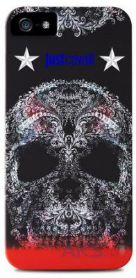 Чехол PURO JUST CAVALLI Soft Skull Apple iPhone 5, iPhone 5S, iPhone 5SE Black (JCIPC5SOFTSKULL1)