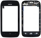 Сенсор (тачскрін) Nokia Lumia 710 with frame (original) Black