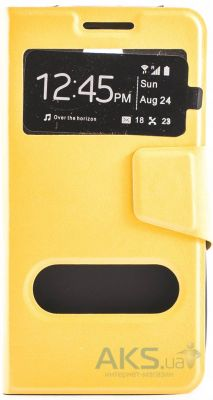 Чехол Book Cover TPU Samsung N920 Galaxy Note 5 Yellow