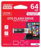 Вид 5 - Флешка GooDRam 16GB OTN3 (Twin) Black USB 3.0 (OTN3-0160K0R11)
