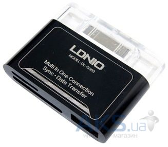 LDNio Camera connection kit for Apple iPhone DL-P303 Black