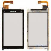 Сенсор (тачскрін) Nokia X6-00 with frame (original) Black