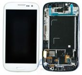 Дисплей (экраны) для телефона Samsung Galaxy S 3 SHV-E210S + Touchscreen with frame White