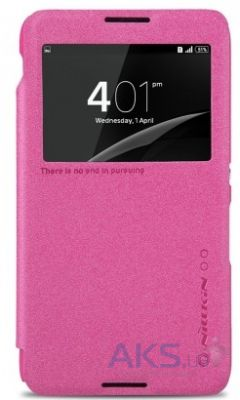 Чехол Nillkin Sparkle Leather Series Sony Xperia E4 E2115 Pink