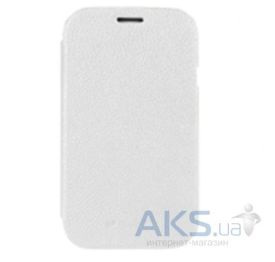 Чехол Melkco Book leather case for Samsung S7562 Galaxy S DuoS White (SS7562LCFB2WELC)