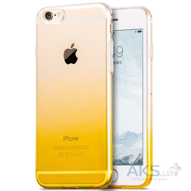 Чехол Hoco Black Gradient Series Apple iPhone 6, iPhone 6S Yellow