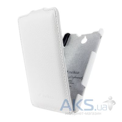 Чехол Melkco Jacka Leather Case for Sony Xperia E Dual C1604/С1605 White (SEXPRELCJT1WELC)